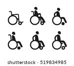 wheelchair or invalid disabled. ... | Shutterstock .eps vector #519834985