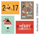 winter holidays  happy new year ... | Shutterstock .eps vector #519840625