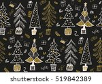 vector seamless pattern with... | Shutterstock .eps vector #519842389