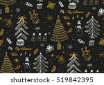 vector seamless pattern with... | Shutterstock .eps vector #519842395