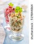 russian salad olivier and...   Shutterstock . vector #519844864