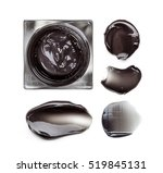 smear of black facial mask on a ... | Shutterstock . vector #519845131
