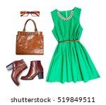 still life of casual woman.... | Shutterstock . vector #519849511