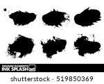 ink blot grunge splash vector... | Shutterstock .eps vector #519850369