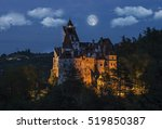 dracula's medieval castle at... | Shutterstock . vector #519850387