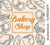 bakery bread shop bake vector... | Shutterstock .eps vector #519850879