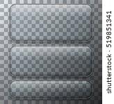 vector modern transparent glass ... | Shutterstock .eps vector #519851341