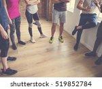 diversity people exercise class ...   Shutterstock . vector #519852784