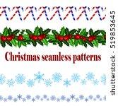 set of n seamless christmas... | Shutterstock .eps vector #519853645