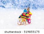 little girl and boy enjoying... | Shutterstock . vector #519855175