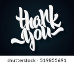 thank you lettering. hand... | Shutterstock .eps vector #519855691
