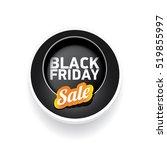 vector black friday sales tag... | Shutterstock .eps vector #519855997
