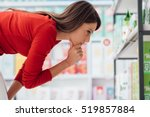 young woman choosing products... | Shutterstock . vector #519857884