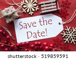 label with christmas decoration ... | Shutterstock . vector #519859591