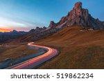 landscape of passo di giau in... | Shutterstock . vector #519862234