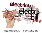 electric bill word cloud... | Shutterstock . vector #519865945