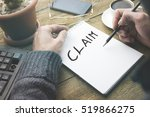 word claims on notebook | Shutterstock . vector #519866275
