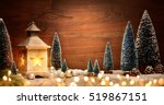 christmas scene with a lantern  ... | Shutterstock . vector #519867151