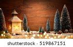 Christmas Scene With A Lantern...