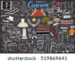 cinema and film industry set.... | Shutterstock . vector #519869641