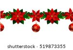 seamless christmas borders | Shutterstock .eps vector #519873355