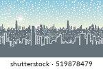 seamless headline winter city.... | Shutterstock . vector #519878479