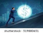 businessman pushing away dollar ...