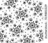 seamless pattern with doodles... | Shutterstock . vector #519881029