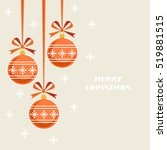 christmas decoration with... | Shutterstock . vector #519881515