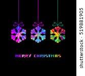 christmas decoration  ... | Shutterstock . vector #519881905