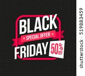 black friday special offer 50 ... | Shutterstock .eps vector #519883459