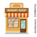 bakery shop. baking shop... | Shutterstock .eps vector #519884761