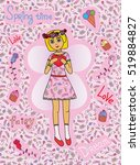 magical cute adorable fairy... | Shutterstock .eps vector #519884827