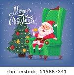 cute cartoon santa claus... | Shutterstock .eps vector #519887341