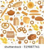 bakery seamless pattern. flat... | Shutterstock .eps vector #519887761