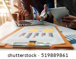 business team meeting present... | Shutterstock . vector #519889861