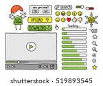 collection of doodle web... | Shutterstock .eps vector #519893545