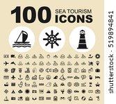 simple set of sea tourism... | Shutterstock .eps vector #519894841