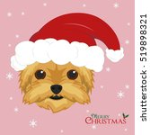 christmas greeting card.... | Shutterstock .eps vector #519898321