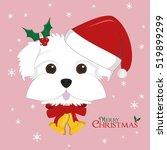 christmas greeting card.... | Shutterstock .eps vector #519899299