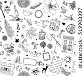 seamless black and white... | Shutterstock .eps vector #519903397