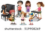 children playing instruments... | Shutterstock .eps vector #519908269