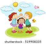 children playing game in the... | Shutterstock .eps vector #519908335