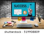 success  cooperate to... | Shutterstock . vector #519908809