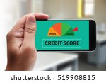 credit score   businessman... | Shutterstock . vector #519908815