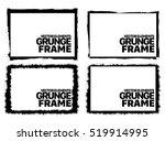 grunge frame texture set  ... | Shutterstock .eps vector #519914995