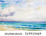 Watercolor Seascape  Original ...