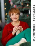 beautiful redhead woman... | Shutterstock . vector #519916861