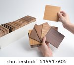samples of veneer wood on white ... | Shutterstock . vector #519917605