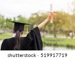 graduate put her hands up and... | Shutterstock . vector #519917719